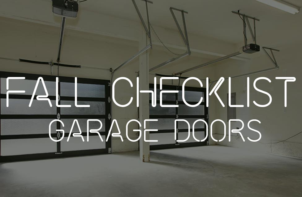 garage door check list